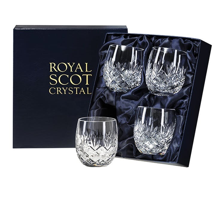 Edinburgh Crystal Barrel Tumblers, Set of 4