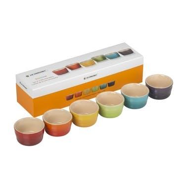 Rainbow Set of 6 Mini Ramekins