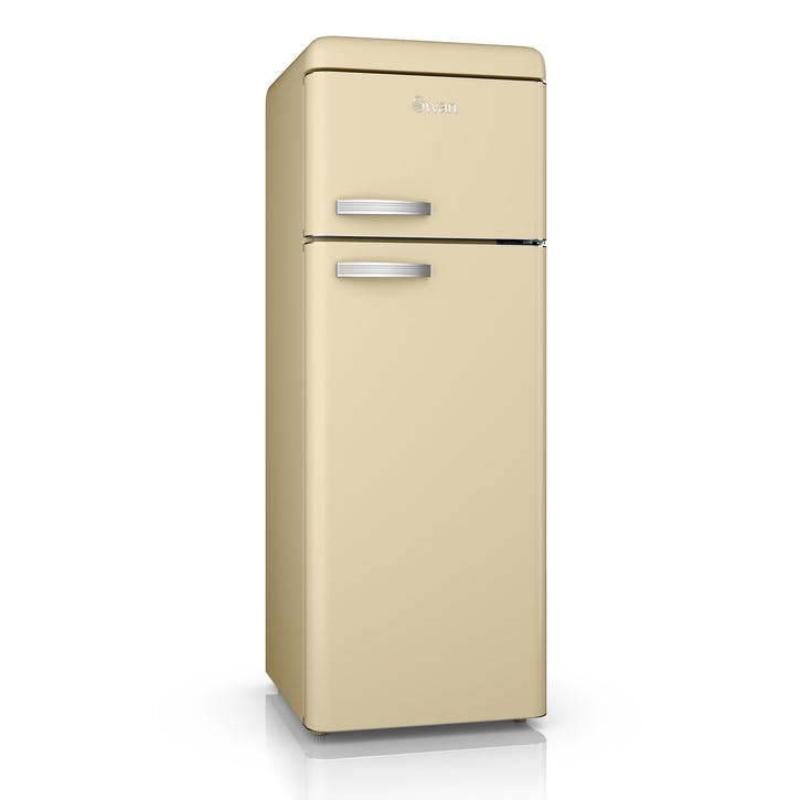 Retro Top-Mounted Fridge Freezer, Cream