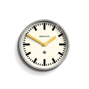 The Luggage, Wall Clock, W30cm x D7cm x H30cm, Yellow Hands