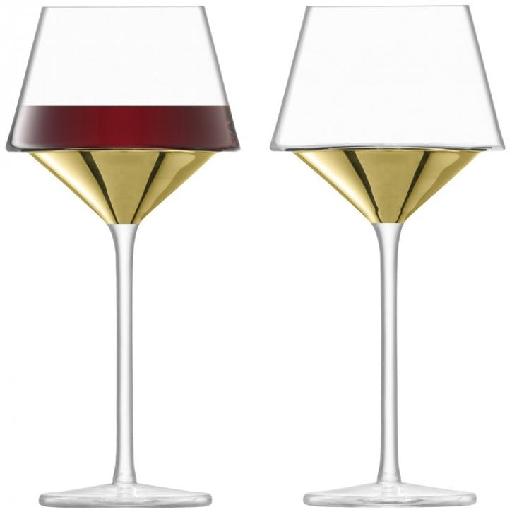 Space Wine Goblet Set of 2; Gold