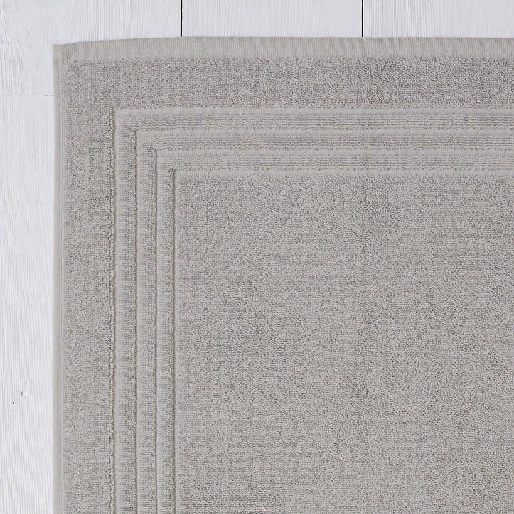 Egyptian Cotton Bath Mat, Pearl Grey