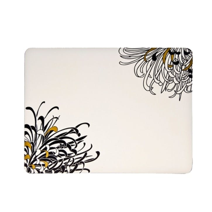 Chrysanthemum Set of 4 Tablemats, 30cm, White