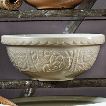 In the Forest Mixing Bowl - 26cm; Stone