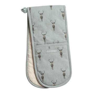 'Highland Stag' Double Oven Glove