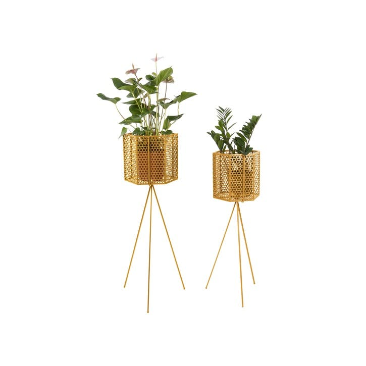Mesh Standing Planter, Set of 2