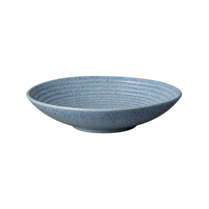 Studio Blue Medium Ridged Bowl, Flint