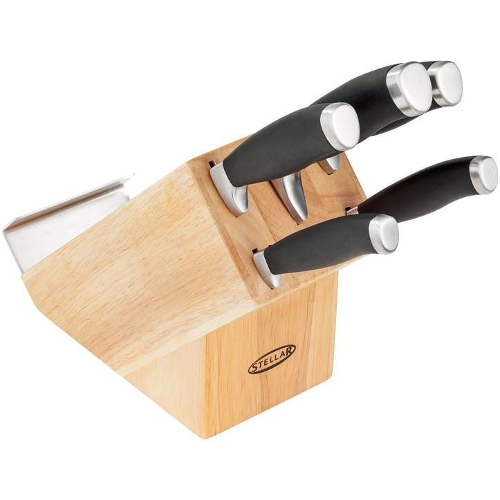 James Martin 5 Piece Knife Block Set, Natural