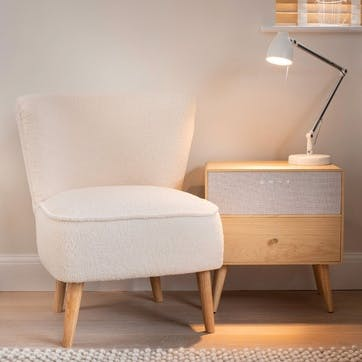 Ralph Smart Side Table, Beige/Natural