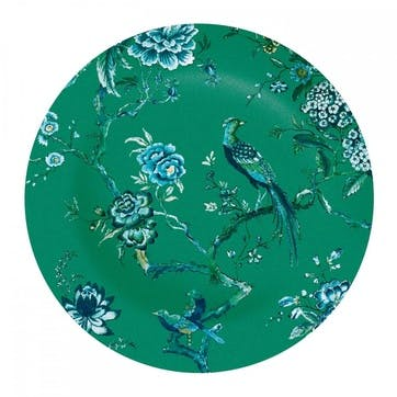Chinoiserie Dinner Plate, Green