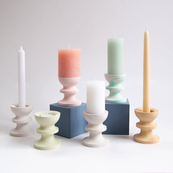 Scala Candle Holder, Olive