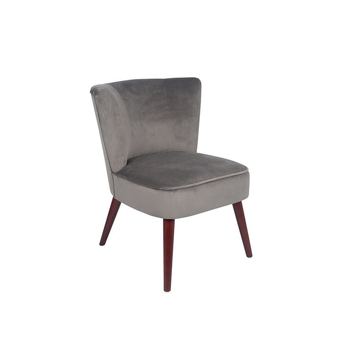 Austen Velvet Cocktail Chair, Dove Grey