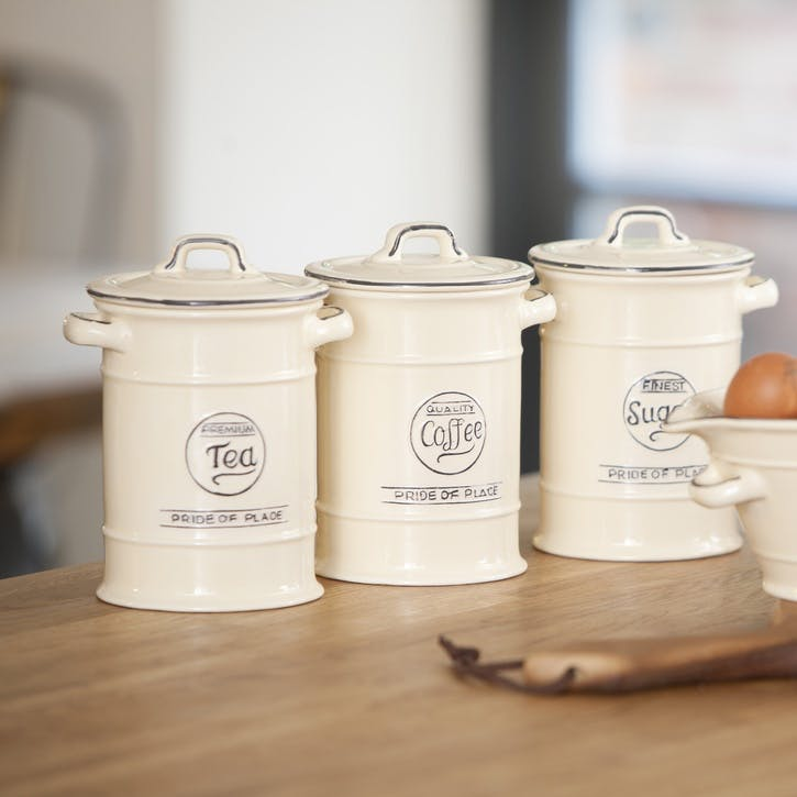 Pride of Place Sugar Jar, Old Cream