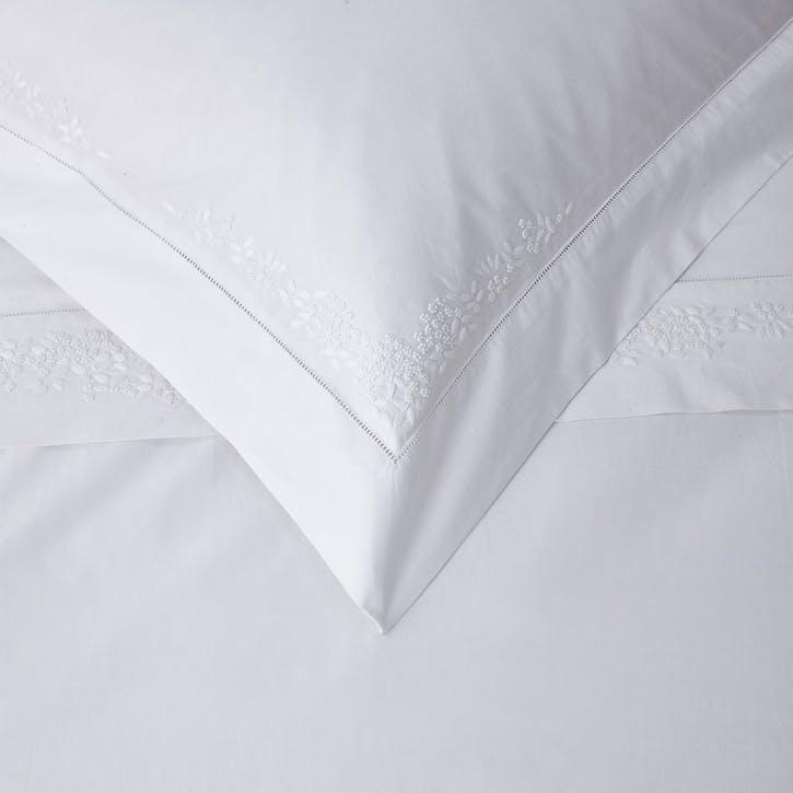 Adeline Oxford Pillowcase, Standard, White