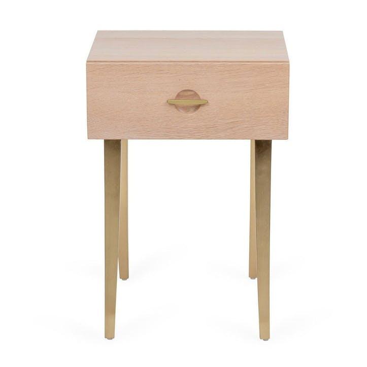 Crawford Bedside Table Light Oak