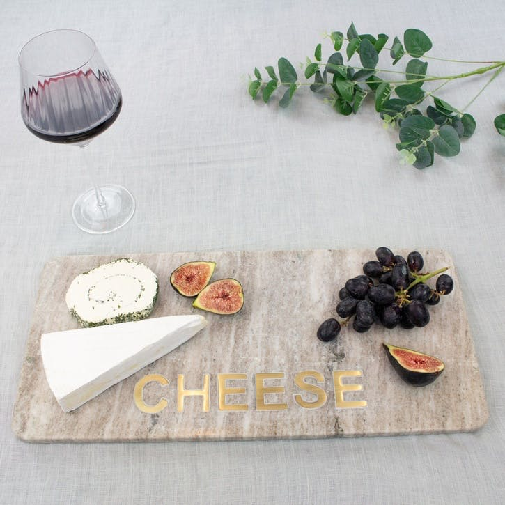 Marble & Brass Cheese Board