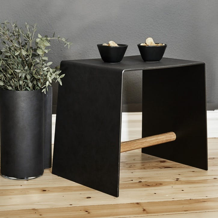 Stool/ Table, Anthracite & Oak