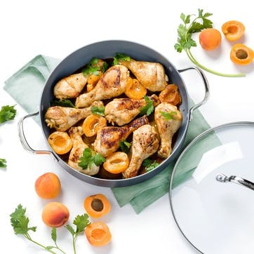 Venice Pro Ceramic Non-Stick Shallow casserole with Lid - 30cm