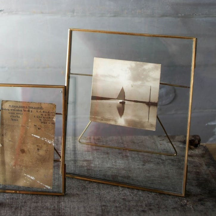 Danta Antique Brass Frame, 8 x 10""