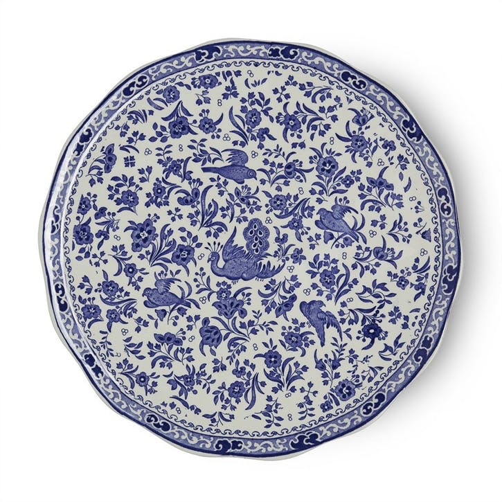 Regal Peacock Cake Plate, 28cm, Blue