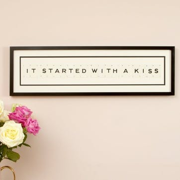 'It Started With a Kiss' Word Frame