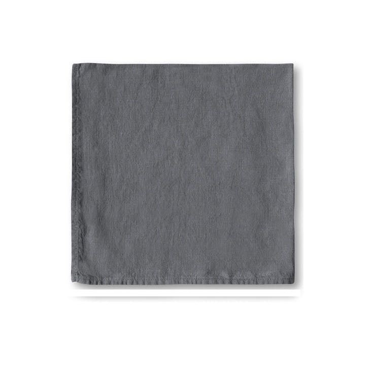 Simple Hem Napkin, Charcoal