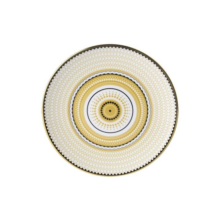 Oscillate Ochre Coupe Side Plate - 16.5cm; Ochre