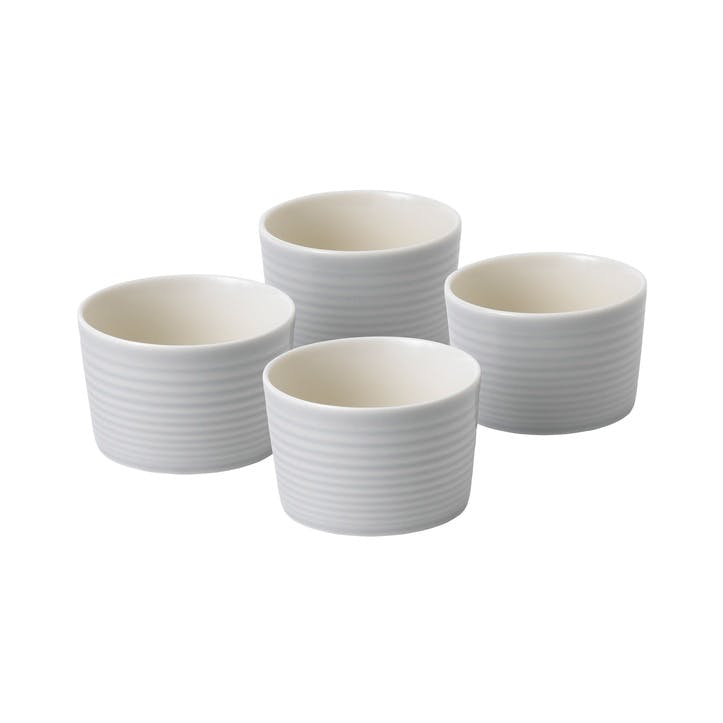 Gordon Ramsay Maze Ramekin, Set of 4, Light Grey