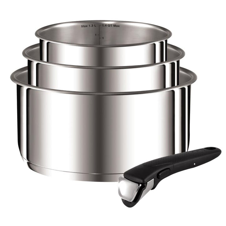 Ingenio Stainless Steel 4 Piece Saucepan Set