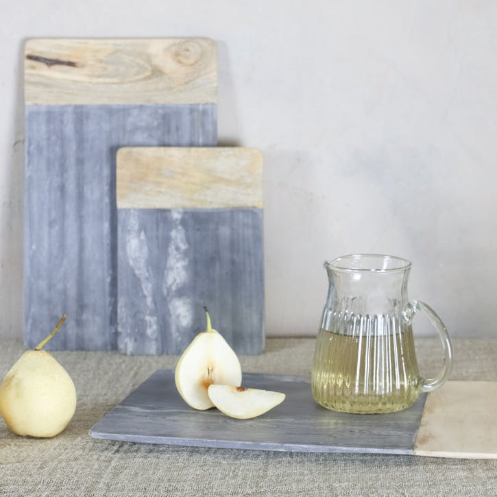 Bwari Long Marble Board - Small; Grey