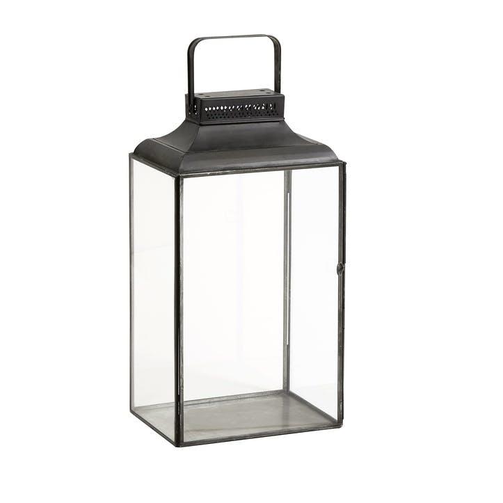 Black Rectangular Lantern, Small