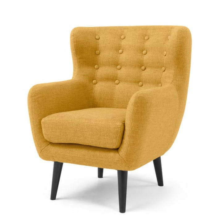 Kubrick Wing Back Chair; Ochre Yellow