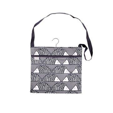Spike Wipe Clean Peg Bag, Grey