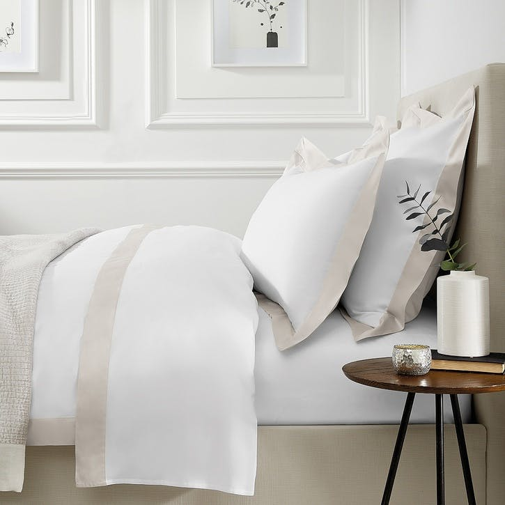 Camborne Duvet Cover, Double, Oyster