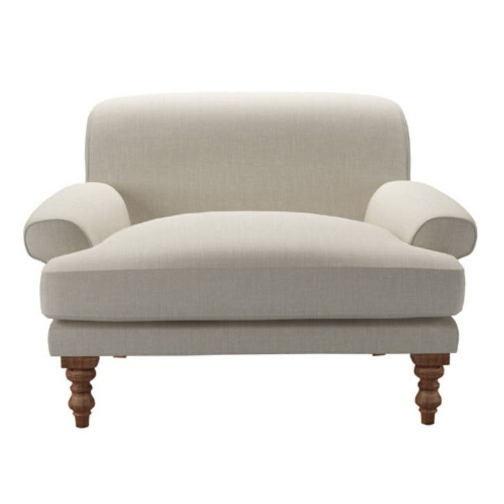 Saturday, Loveseat, Canvas Pure Belgian Linen