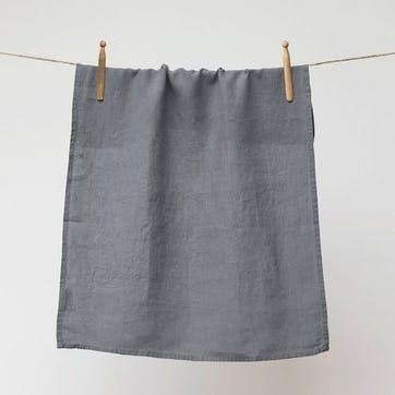Linen Tea Towel, Charcoal
