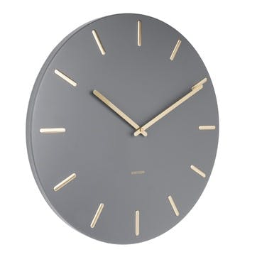 Charm Wall Clock, Grey