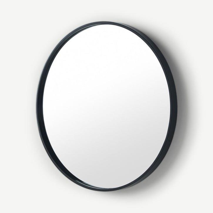Bex, Round Mirror, Black