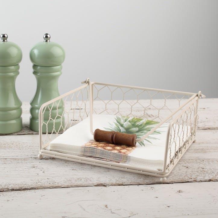Provence Napkin Holder, Cream
