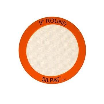 Non-Stick Silicone Round Baking Mat, 23cm
