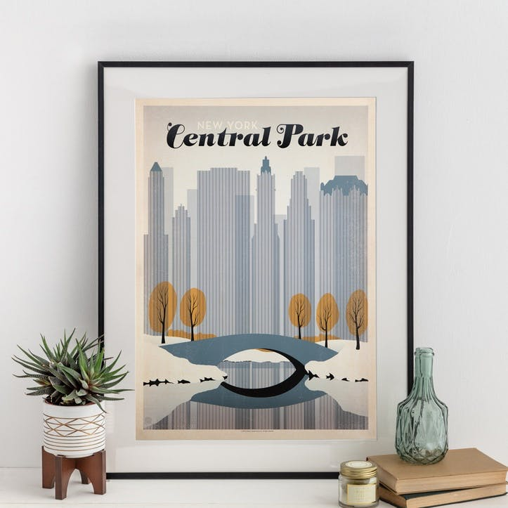 Central Park Print, Winter