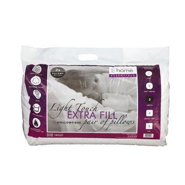 Hollowfibre Extra Fill Set of 2 Pillows