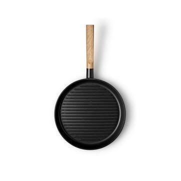 Nordic Kitchen Grill Frying Pan - 28cm, Black