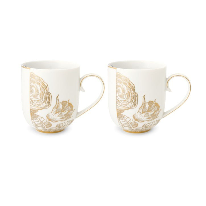 PiP Royal White Mugs, Set of 2
