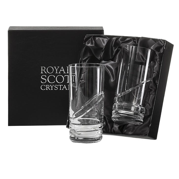 Saturn Crystal Tall Tumblers, Set of 2