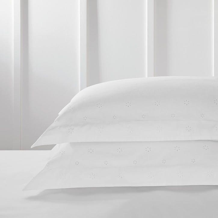 Freya, Oxford Pillowcase Standard, White