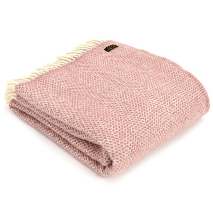 Beehive Throw; Dusky Pink