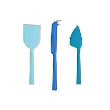 Enamel Cheese Knives, Set of 3