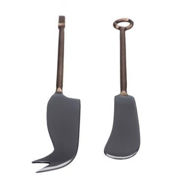 Copper Cheese Knife, Set of 2