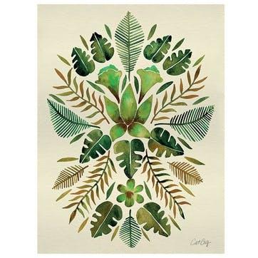 Cat Coquillette Tropical Symmetry Canvas, 30 x 40cm
